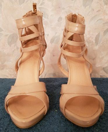 Туфли, размер 35-36, цвет бежевый, б/у в Бишкек