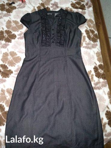 Женское платье, размер 44, темносерого цвета, модель турецкая в Бишкек