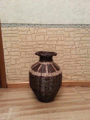 Вазы - Кыргызстан: Плетенная ваза ручная работа. Размер 50 × 25. Цена . сом