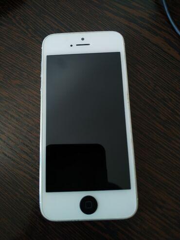 zapchasti na telefon в Кыргызстан: Б/У iPhone 5 32 ГБ Белый