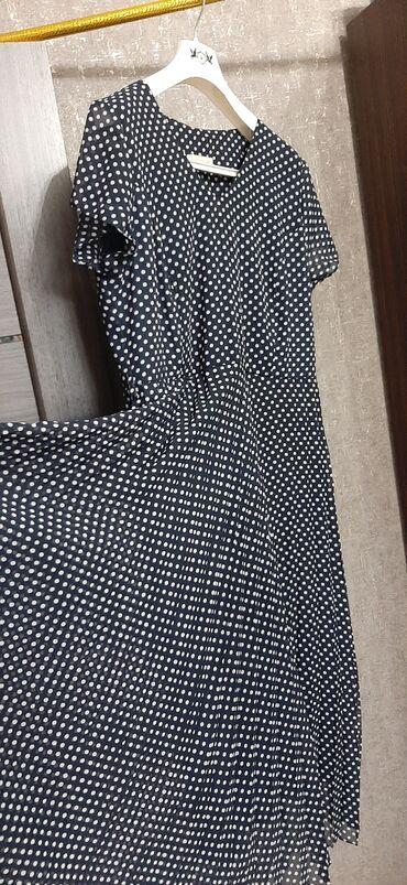 турецкая новая платье в Азербайджан: Платье коктейльное. Материал - шифон, с подкладкой. Темно-синее в
