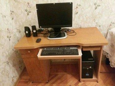 Bakı şəhərində Hp markali komputer+pc stolu,elave enerji bloku hamsi bir yerde tecili