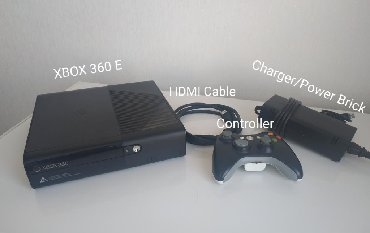 xbox 3 0 в Кыргызстан: -Xbox 360 E-hdmi cable-controller-controller charger-power