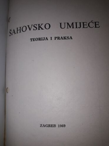 ŠAH,UKORIČENA,OČUVANA KNJIGA1969.GOD.,316 STR