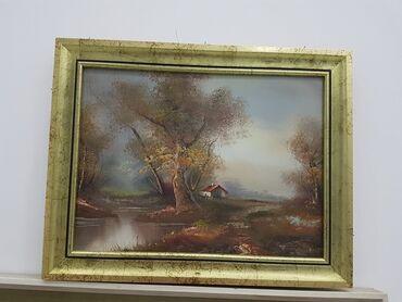 Slike na platnu - Srbija: Odlicna slika u lux ramu dimenzije38 cm48 cm SLIKA JE ULJE NA