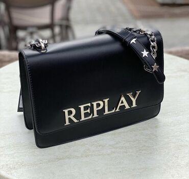 Replay original crna kozna torba sa etiketom Torba je potpuno nova  Sn
