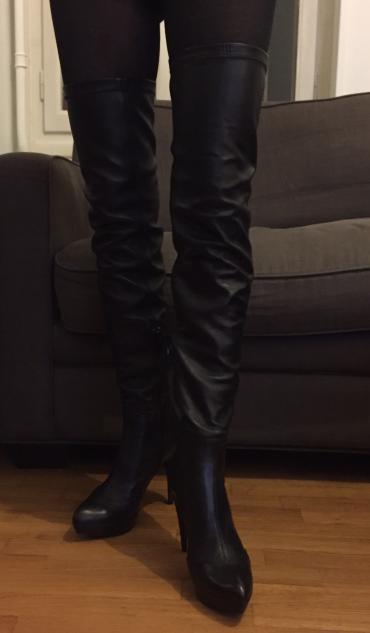 Zara high knee length high heels black leather boots . New , never σε Βόρεια & Ανατολικά Προάστια - εικόνες 8