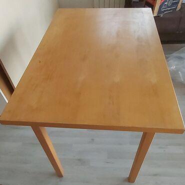 Barska stolica - Srbija: Ikea sto,fiksni 70 cm širina,110cm duzina i visina 76 cm.Kad se