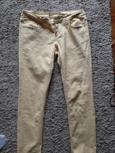 Pantalone zute - Srbija: Zute pantalone, vel.44, bez ostecenja