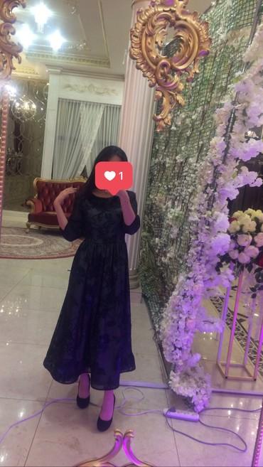вечерние платья серого цвета в Кыргызстан: Вечернее платье сочетание черного со стальным ( серым ) цветом