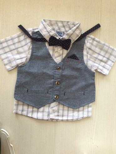 детская клетчатая рубашка в Кыргызстан: Детские рубашки по очень низким ценам, и качестенные.  Размеры уточняй