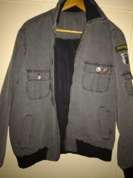 Jakna-indijskoj-radnji-east-pointmererame-rame-cm - Srbija: BROS S bomber siva jaknaBomber jakna, sive boje S veličina, sa