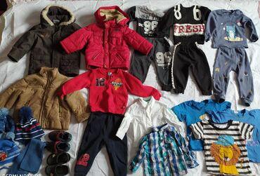 роликовые ботасы в Кыргызстан: Детские вещи размер на 9-18мес2 шт куртки1 шт дублёнка2шт рубашки2шт