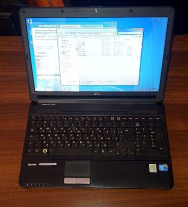 Fujitsu - Кыргызстан: Ноутбук i3 380M, 4Gb DDR3, HDD320GbВнешне в идеальном состоянии