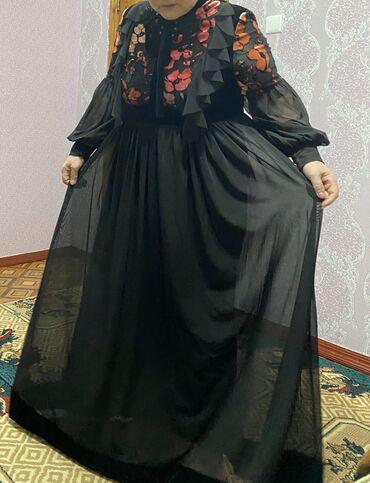чёрное платье размер 50 52 в Кыргызстан: Продаётся турецкое платье, размер 50-52, надевали 2 рада на