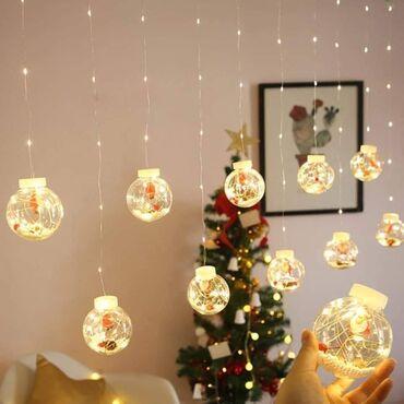 NOVOGODISNJE LED KUGLE 3m (10kugli)Osvetlite svoju prazničnu zabavu