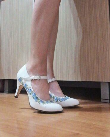 Tehnika - Srbija: Ručno sređene cipelice dekupaž tehnikom - jednom nošenje, očuvane