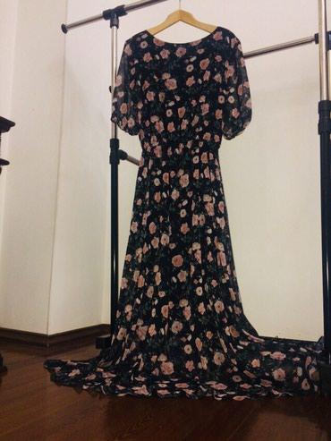 длинные шифоновые платья с рукавами в Кыргызстан: Красивое длинное шифоновое платье,носила 1 раз,размер 46