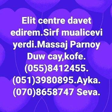 Bakı şəhərində Priqlawayem vas na lecebniy center.