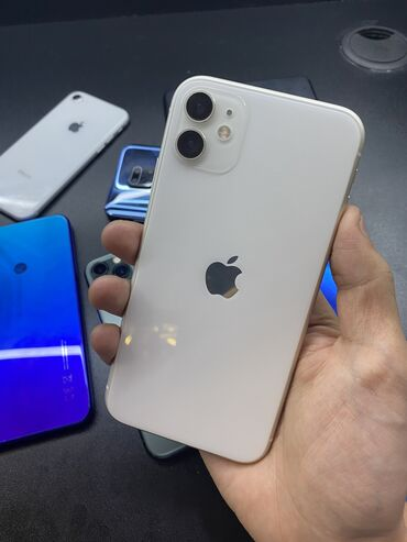 xiaomi mi note 10 цена в бишкеке в Кыргызстан: Б/У IPhone 11 128 ГБ Белый