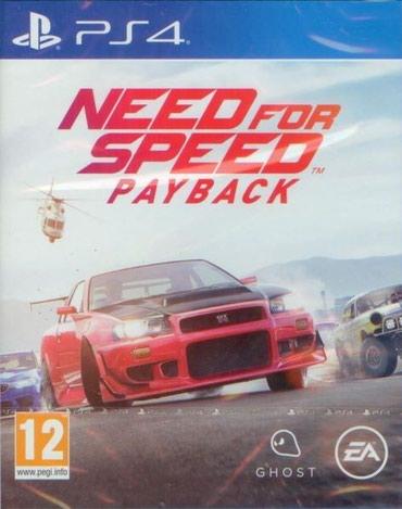 Bakı şəhərində Ps4 üçün Need for speed payback oyun diski satılır