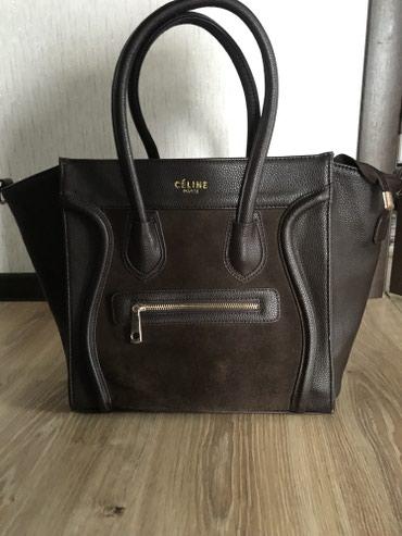 """sumku celine replika в Кыргызстан: Продаю сумку """"Celine paris"""", размер 30 см. Носила пару раз, как новый"""