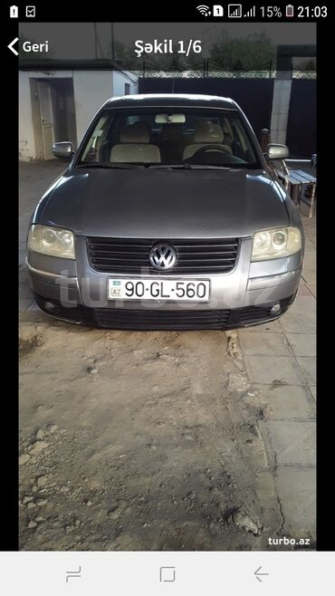Avtomobillər - Biləsuvar: Volkswagen Passat 1.8 l. 2002 | 299172 km