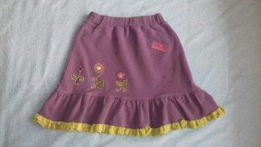 Pamucna suknja velicina 8 ali gledajte mere.Duzina suknje 36cm,sirina - Smederevo