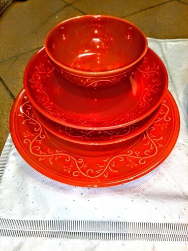 Porcelan - Srbija: Tanjiri porcelan raznih boja i dezena moze i po komadu može set
