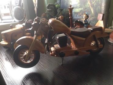 İdman və hobbi Qubada: El iwidir taxtadan yonulma motoskilet