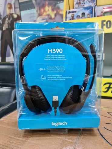 2694 объявлений: Наушники для Call центров Logitech H390 USBЦена - 3900 сом.Проводные