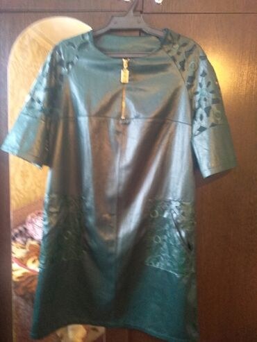 Платья - Цвет: Зеленый - Кок-Ой: Платья 46р синий-50р новый