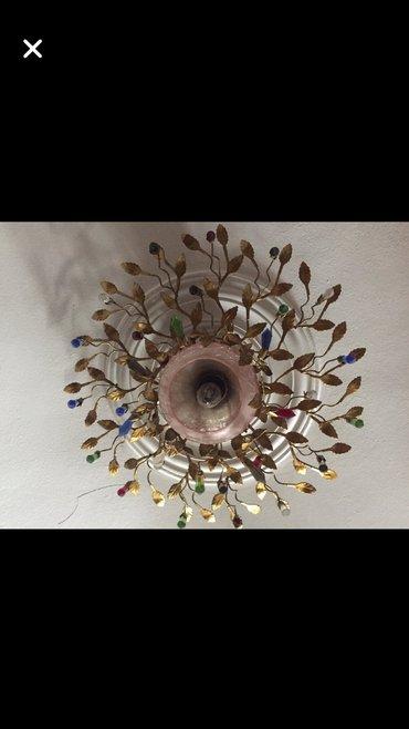 Lustra Потолочная люстра с разноцветными кристаллами