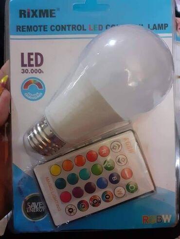 Zatamnjena RGB LED sijalica sa daljinskim upravljačem - E27