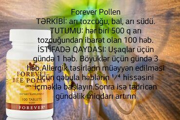 Forever arı tozcuğu - bioloji aktiv qida maddesidir. Terkibinde