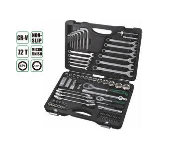 Набор инструментов 76 прс, AE-S76, 18шт 1/4 бит гнездо:T8,T10,T15