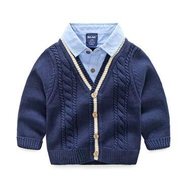 Детская двойка рубашка и джемпер из качественного материала Производст