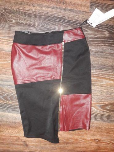 снять времянку в Азербайджан: Ассиметричная юбка с кожанными вставками.новая даже бирку не успела