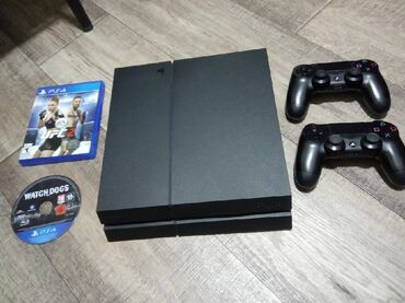 PS4 (Sony Playstation 4) в Кыргызстан: Ps4 fat.1000GB+2 джойстикаВ комплекте всё шнуры коробка.Состояние