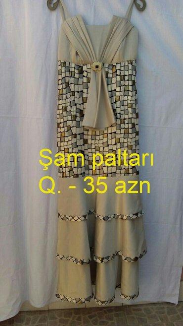 Bakı şəhərində Şam paltarı,6 saat qeynilib,bədəndə balıq  formasında olur,