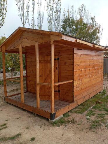 домик на колёсах в Кыргызстан: Деревянный домик