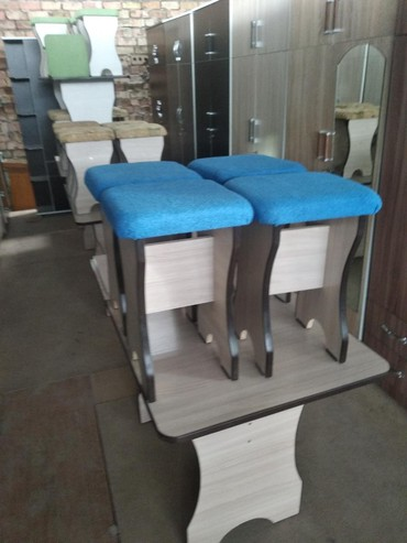 Стол и 4 табуретки 110см на 70см доставка в Бишкек