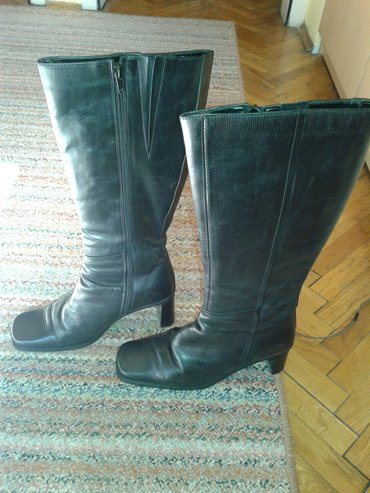 Italijanske cizme, kvalitetna koza,ocuvane, br. 38 - Valjevo