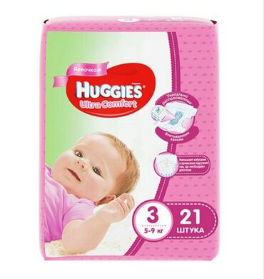 huggies elite soft в Кыргызстан: Huggies Ultra Comfort #3, 5-9кг, 21 шт