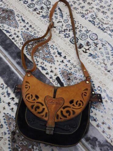 сумка в Кыргызстан: Сумка из натуральной кожи  Состояние хорошее