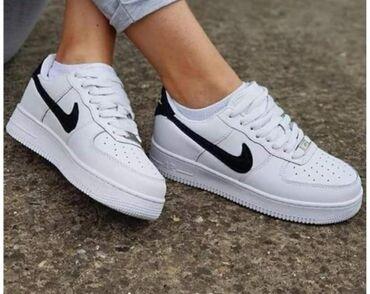 NAJNOVIJI MODEL  Crno bele Nike Air Force  Siveni znakovi, vrh kvalite