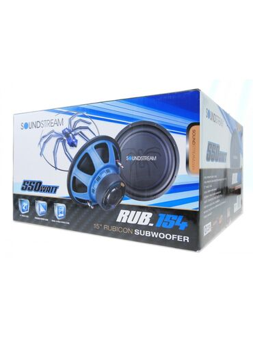 Сабвуфер Sound Stream RUB154. Саб 37см. 15 дюймов. 550Watt. Наш адрес