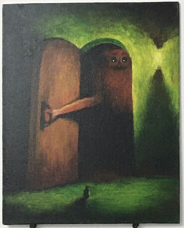 Продаю картину акрил, холст на картоне, 30х24 «Неизвестность»,2020