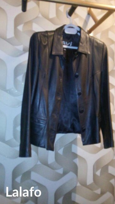 Куртка из натур кожи, черн цвета, в Лебединовка