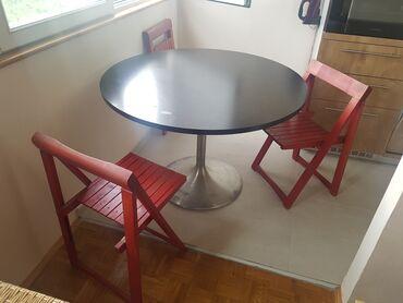 Barska stolica - Srbija: ASTAL-precnik 110cmq + tri STLICE na sklapanje
